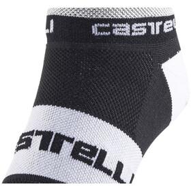 Castelli Lowboy Chaussettes, black/white